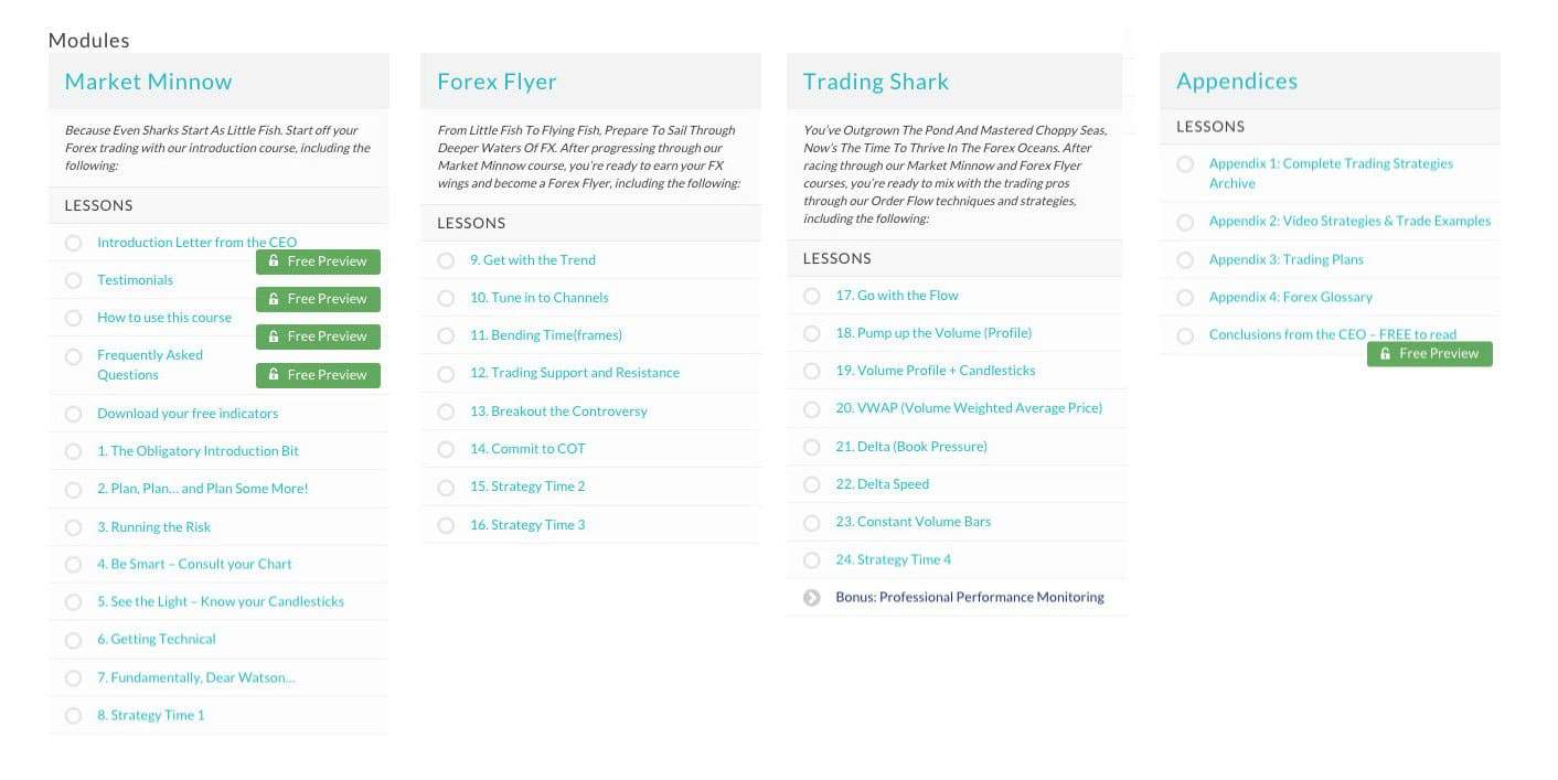 forex mastercourse modules